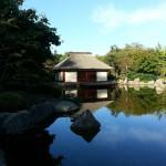 Der japanische Garten neben der Messe in Hamburg